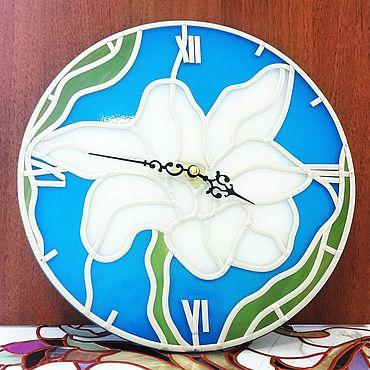 """Для дома и интерьера ручной работы. Ярмарка Мастеров - ручная работа Часы: """"Лиличка"""". Handmade."""