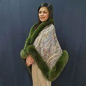 Аксессуары handmade. Livemaster - original item Scarf-cape with arctic fox. Handmade.