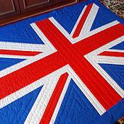 """Для дома и интерьера ручной работы. Ярмарка Мастеров - ручная работа Лоскутное покрывало """" Британский флаг"""". Handmade."""