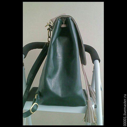 Рюкзаки ручной работы. Ярмарка Мастеров - ручная работа. Купить Рюкзак женский зелёный. Handmade. Зеленый, рюкзак городской