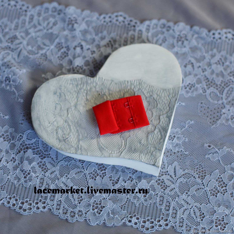 Красная алая текстильная застежка для бюстгальтера 2x4, Материалы, Москва,  Фото №1