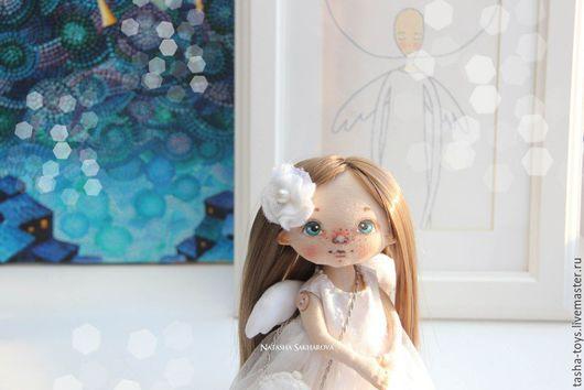 Человечки ручной работы. Ярмарка Мастеров - ручная работа. Купить Маленький Ангел.. Handmade. Белый, ангел, подарок, подарок на рождество