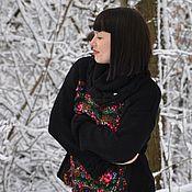 Одежда handmade. Livemaster - original item Merino-cashmere sweater with felted insert. Handmade.
