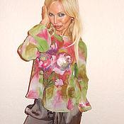 Одежда ручной работы. Ярмарка Мастеров - ручная работа блуза-реглан - Мятные маки. Handmade.