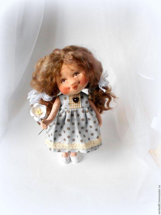 Коллекционные куклы ручной работы. Ярмарка Мастеров - ручная работа. Купить Мамочке любимой. Handmade. Голубой, кукла текстильная
