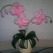 Подарки к праздникам ручной работы. Ярмарка Мастеров - ручная работа орхидея из бисера ручной работы. Handmade.
