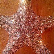 Куклы и игрушки ручной работы. Ярмарка Мастеров - ручная работа Морская звезда,декорировання кристаллами Сваровски, 6000 кристаллов. Handmade.