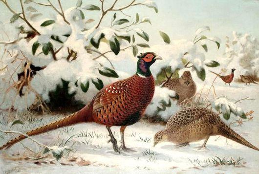 Животные ручной работы. Ярмарка Мастеров - ручная работа. Купить Картина с птицами. Handmade. Птица счастья, птицы, птички
