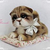 Куклы и игрушки handmade. Livemaster - original item Kitty bead felted from wool. The British lop-eared kitten. Handmade.