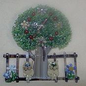 Часы классические ручной работы. Ярмарка Мастеров - ручная работа Часы Коты под деревом. Handmade.