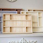 Для дома и интерьера handmade. Livemaster - original item Kitchen shelf for collections, spices, jars on the wall. Handmade.