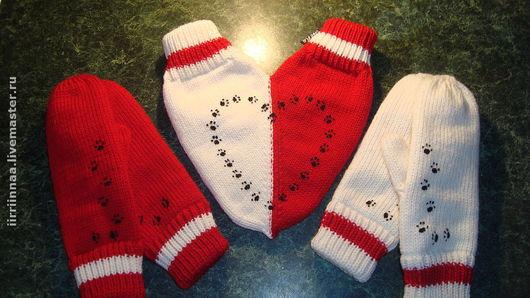 Варежки, митенки, перчатки ручной работы. Ярмарка Мастеров - ручная работа. Купить варежки для влюбленных. Handmade. День валентина 2012