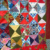 """Для дома и интерьера ручной работы. Ярмарка Мастеров - ручная работа Лоскутное покрывало """"Мурома треугольник"""". Handmade."""