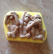 """Косметика ручной работы. Ярмарка Мастеров - ручная работа Мыло """"Три обезьянки"""". Handmade."""