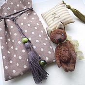 Куклы и игрушки ручной работы. Ярмарка Мастеров - ручная работа маленький шоколадный лисенок. Handmade.