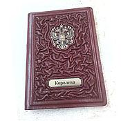 Сумки и аксессуары handmade. Livemaster - original item Leather passport cover with the coat of arms of Russia. Handmade.