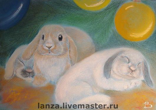 Животные ручной работы. Ярмарка Мастеров - ручная работа. Купить Новогодние кролики. Handmade. Кролики, подарок на новый год, Новый Год