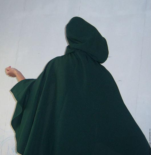 Историческая реконструкция ручной работы. Ярмарка Мастеров - ручная работа. Купить Накидка эльфийская темно-зеленого цвета, изумрудный. Handmade.