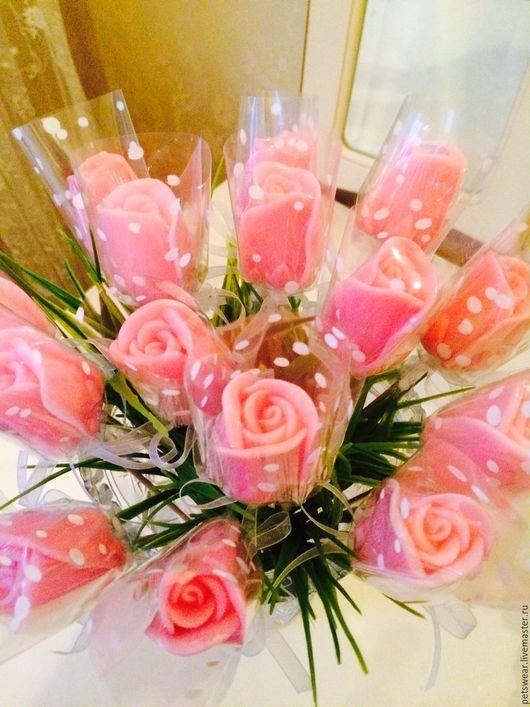 """Мыло ручной работы. Ярмарка Мастеров - ручная работа. Купить Мыло""""Бутон розы""""на стебле.Подарок девушке. Handmade. Мыло в подарок"""