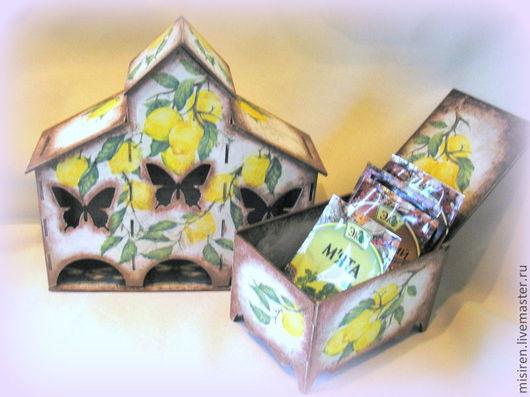 """Кухня ручной работы. Ярмарка Мастеров - ручная работа. Купить """"Лимончелло""""(чайная вилла и коробочка для специй). Handmade. Чайный домик"""