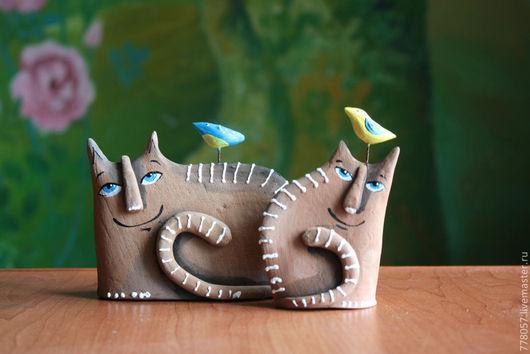 """Игрушки животные, ручной работы. Ярмарка Мастеров - ручная работа. Купить """" Игра"""" Котики теплые.. Handmade. Бежевый, коты"""