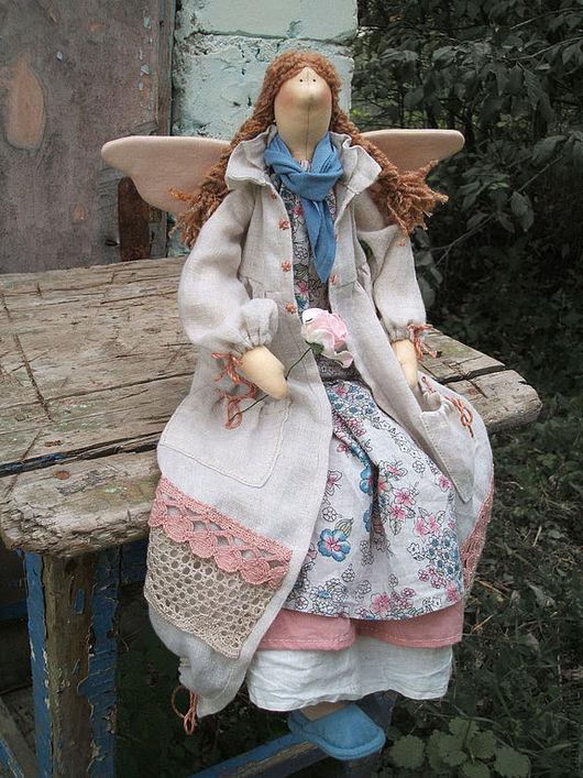 Куклы Тильды ручной работы. Ярмарка Мастеров - ручная работа. Купить Аглая.. Handmade. Бохо, авторская кукла, осень, шнур