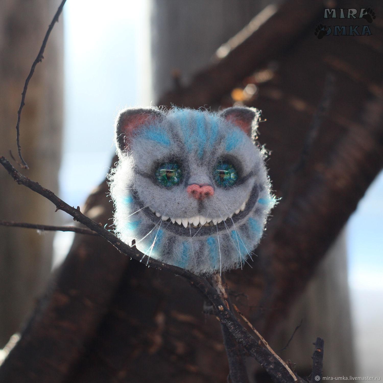 """Брошь """"Чеширский кот"""", Брошь-зажим, Топки,  Фото №1"""