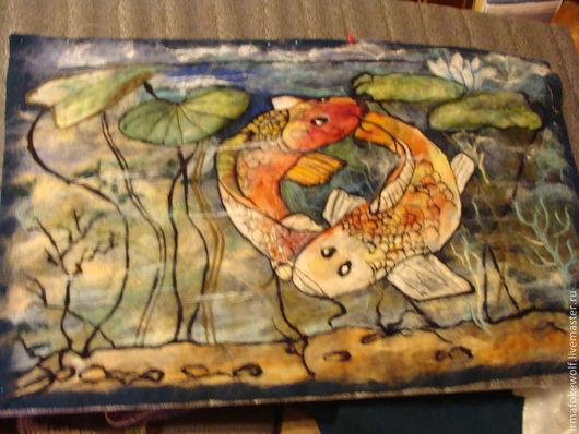 Фантазийные сюжеты ручной работы. Ярмарка Мастеров - ручная работа. Купить Королевский пруд. Handmade. Морская волна, ручная работа