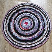 Для дома и интерьера ручной работы. Ярмарка Мастеров - ручная работа коврик круглый вязаный 70 см. Handmade.
