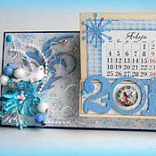 "Канцелярские товары ручной работы. Ярмарка Мастеров - ручная работа ""Сказочная зима"" - календарь ручной работы.. Handmade."