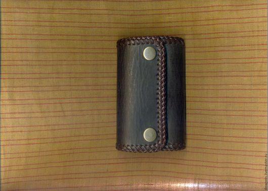 Кошельки и визитницы ручной работы. Ярмарка Мастеров - ручная работа. Купить Кожаная ключница. Handmade. Однотонный, натуральная кожа