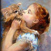 """Картины и панно ручной работы. Ярмарка Мастеров - ручная работа Картина """" Моя собака"""".. Handmade."""