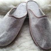 Обувь ручной работы handmade. Livemaster - original item Slippers made of felt. Handmade.