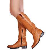 Обувь ручной работы handmade. Livemaster - original item Winter boots leather low heel genuine sheepskin. Handmade.