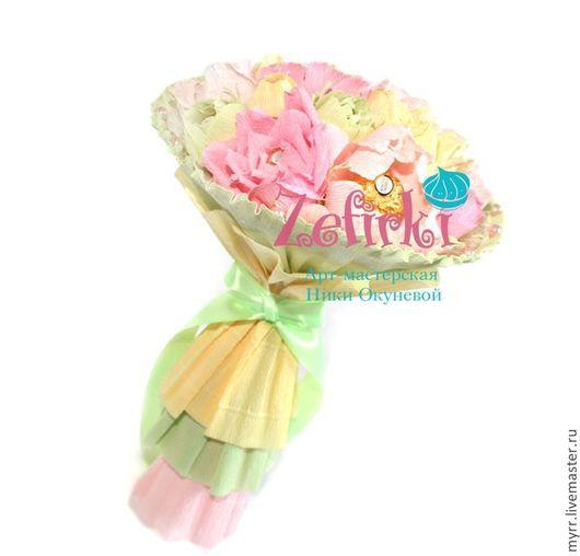 Букеты ручной работы. Ярмарка Мастеров - ручная работа. Купить Пионы розы Букет из конфет шебби подарок дублёр свадебный букет. Handmade.