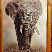 Картины ручной работы. Ярмарка Мастеров - ручная работа Слон. Handmade.