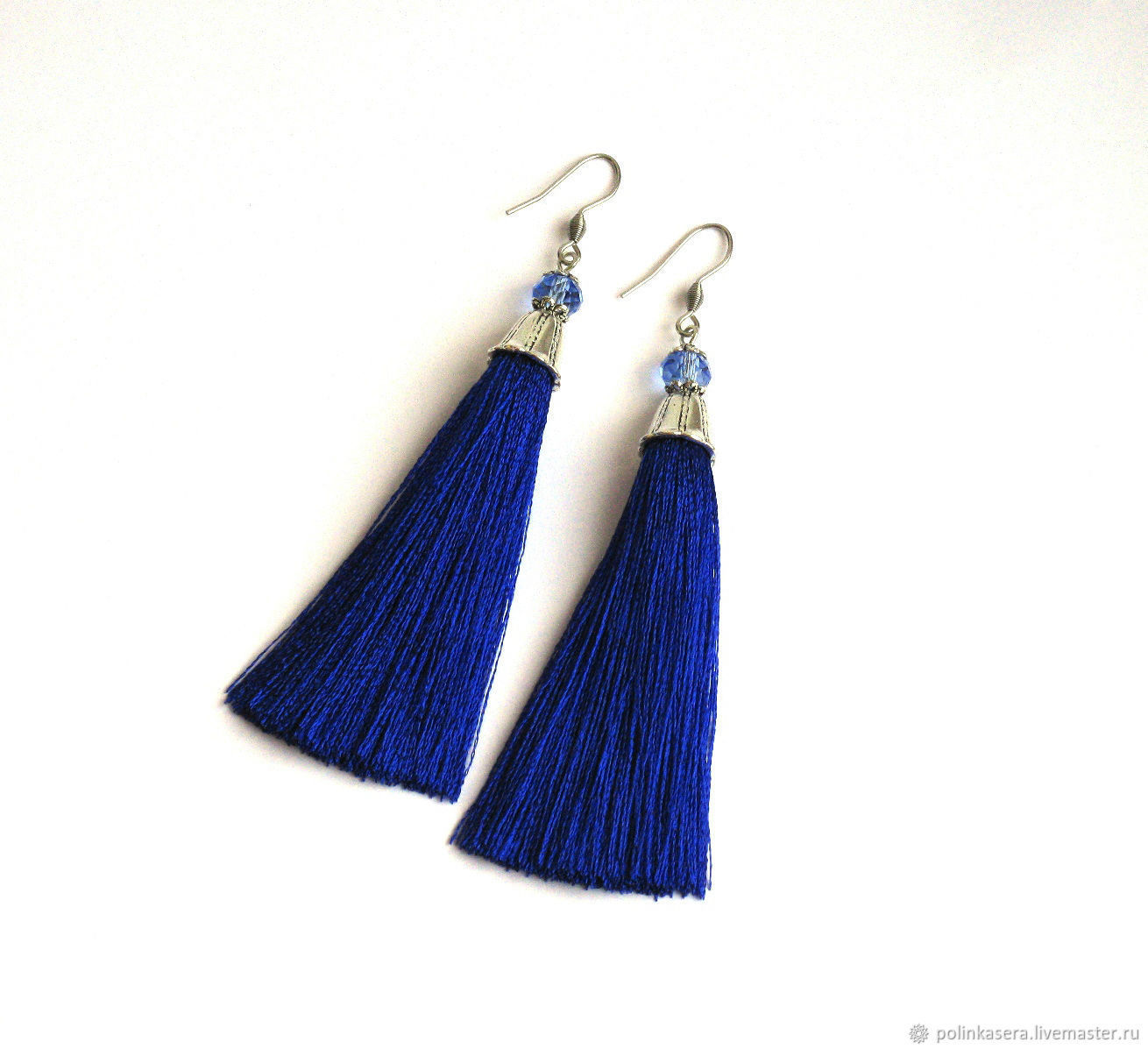 tassel silk bien thread detail loop gemstone earrings mint dangle charm jer accessories