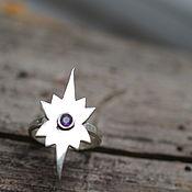 Кольца ручной работы. Ярмарка Мастеров - ручная работа 16.5 аметист 3 мм Кольцо серебро. Handmade.