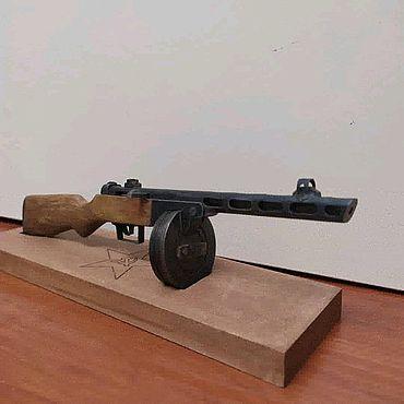Куклы и игрушки ручной работы. Ярмарка Мастеров - ручная работа Миниатюрное оружие ППШ41 масштаб 1:4. Handmade.