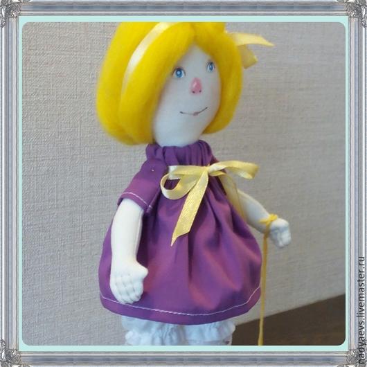 Коллекционные куклы ручной работы. Ярмарка Мастеров - ручная работа. Купить Я люблю свою лошадку.... Handmade. Куколка, шерсть