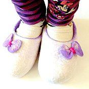 """Обувь ручной работы. Ярмарка Мастеров - ручная работа Тапочки """"Бантики"""". Handmade."""
