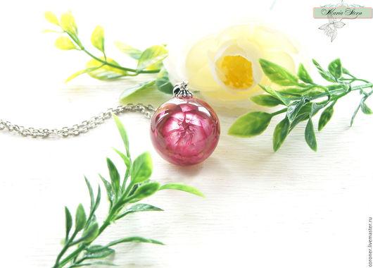 """Кулоны, подвески ручной работы. Ярмарка Мастеров - ручная работа. Купить Кулон-шар 25 мм """"Raspberry dessert"""" из ювелирной смолы. Handmade."""