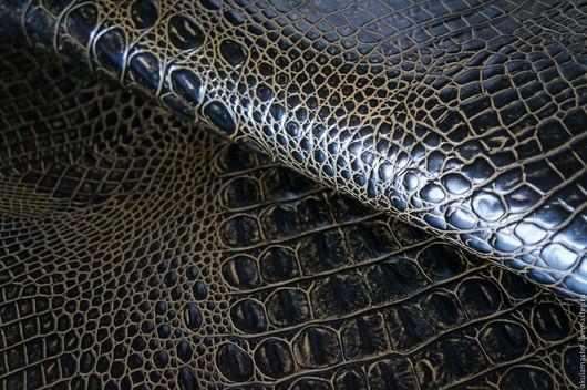 Шитье ручной работы. Ярмарка Мастеров - ручная работа. Купить Кожа натуральная крокодил 1,1-1,3. Handmade.