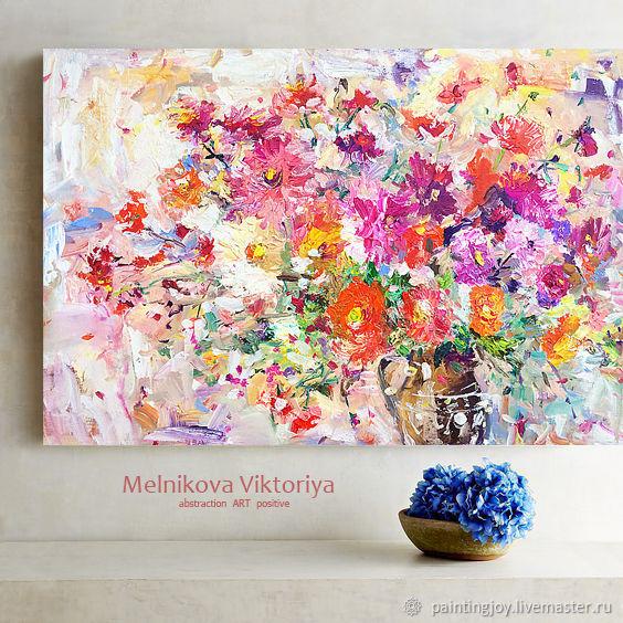 """Картина маслом """"Душу греет соцветие"""" 60/40см, Картины, Ставрополь, Фото №1"""