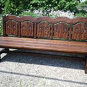 Для дома и интерьера ручной работы. Ярмарка Мастеров - ручная работа Скамейка деревянная. Handmade.
