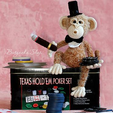 Куклы и игрушки ручной работы. Ярмарка Мастеров - ручная работа Обезьянка гангстер (оригинальный подарок, игрушка мужчине). Handmade.