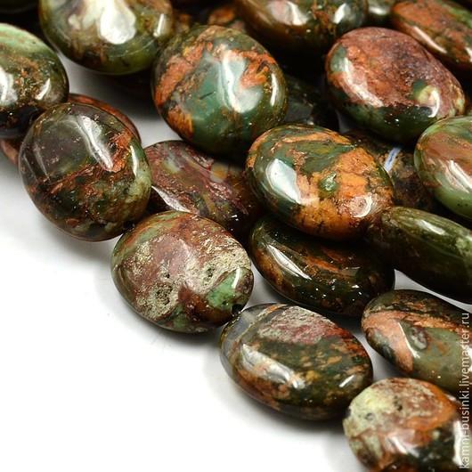 Бусины Опал цветной натуральный овал. Бусины опала для колье, опал бусины для браслетов, опал бусина для серег.