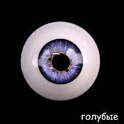 Материалы для творчества ручной работы. Ярмарка Мастеров - ручная работа 28 мм, голубой  Глаза акриловые для кукол. Handmade.