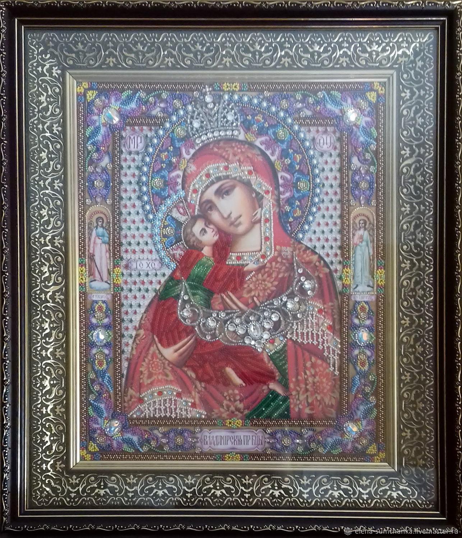 Icon beads 'BM Vladimirskaya', Icons, Kursk,  Фото №1