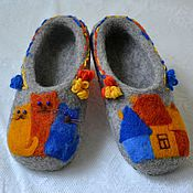 """Обувь ручной работы. Ярмарка Мастеров - ручная работа детские тапочки """"веселая компания"""". Handmade."""